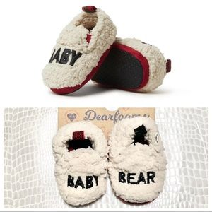 🆕Dear Foams Baby Cozy Sherpa Baby Bear Slipper